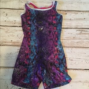 Danskin Pink Purple Unitard Size XS 4/5 Girls